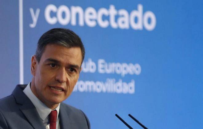 El presidente del Gobierno este lunes en la presentación del PERTE de automoción.