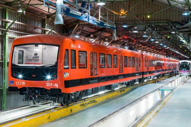 Un tren del fabricante español CAF.