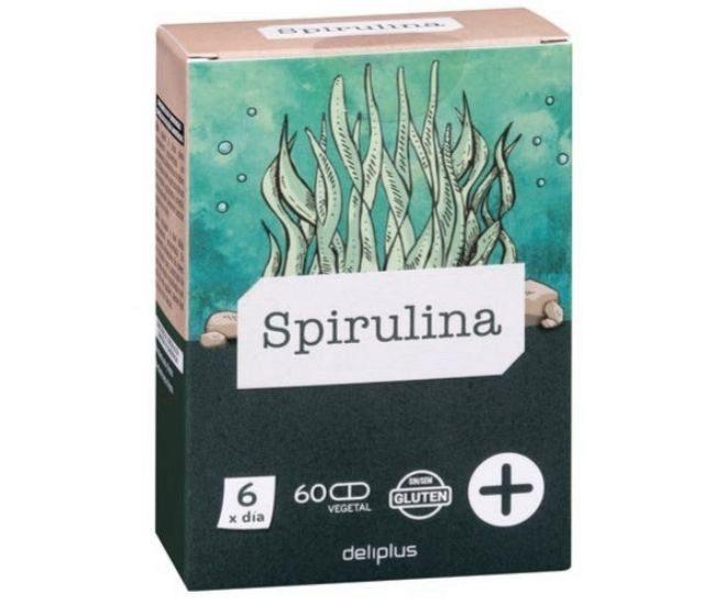 Espirulina de Mercadona. Se vende en cajas de 60 cápsulas por 4,50 euros.