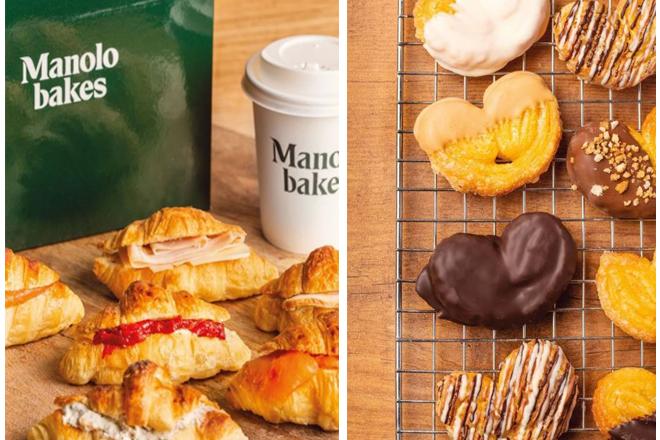 Manolo Bakes cuenta con más de 25 referencias entre cruasanes, palmitas, cafés especiales así como otros productos dulces  y salados.