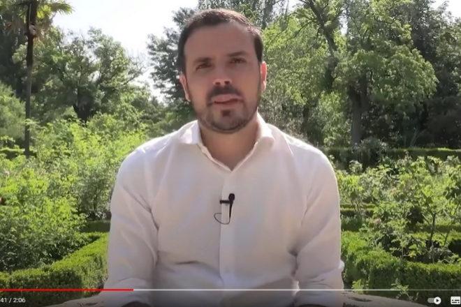 El ministro de Consumo, Alberto Garzón, en su polémico vídeo de la semana pasada, que generó un debate sobre el consumo excesivo de carne y el futuro del sector ganadero.