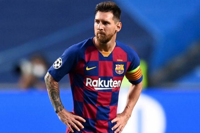 El delantero del FC Barcelona Leo Messi.