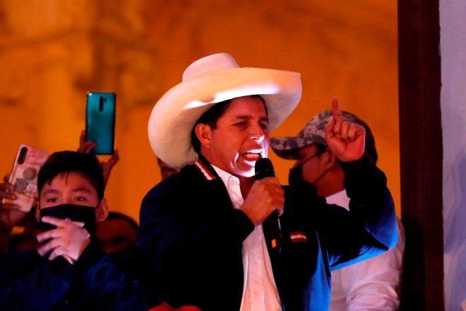 El nuevo presidente de Perú, Pedro Castillo.