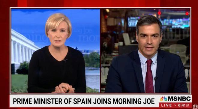 El presidente durante la entrevista del programa Morning Jo en la MSNBC.