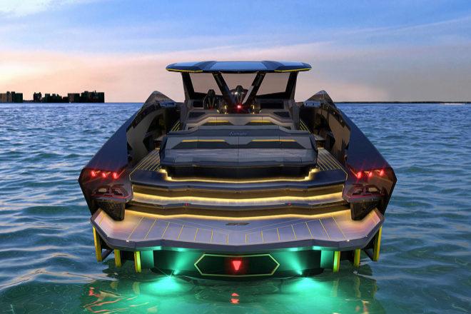 Visión trasera del  Lamborghini 63  de Conor McGregor.