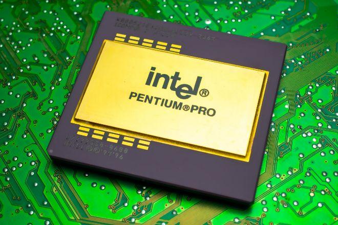 El chip Pentium Pro de Intel.
