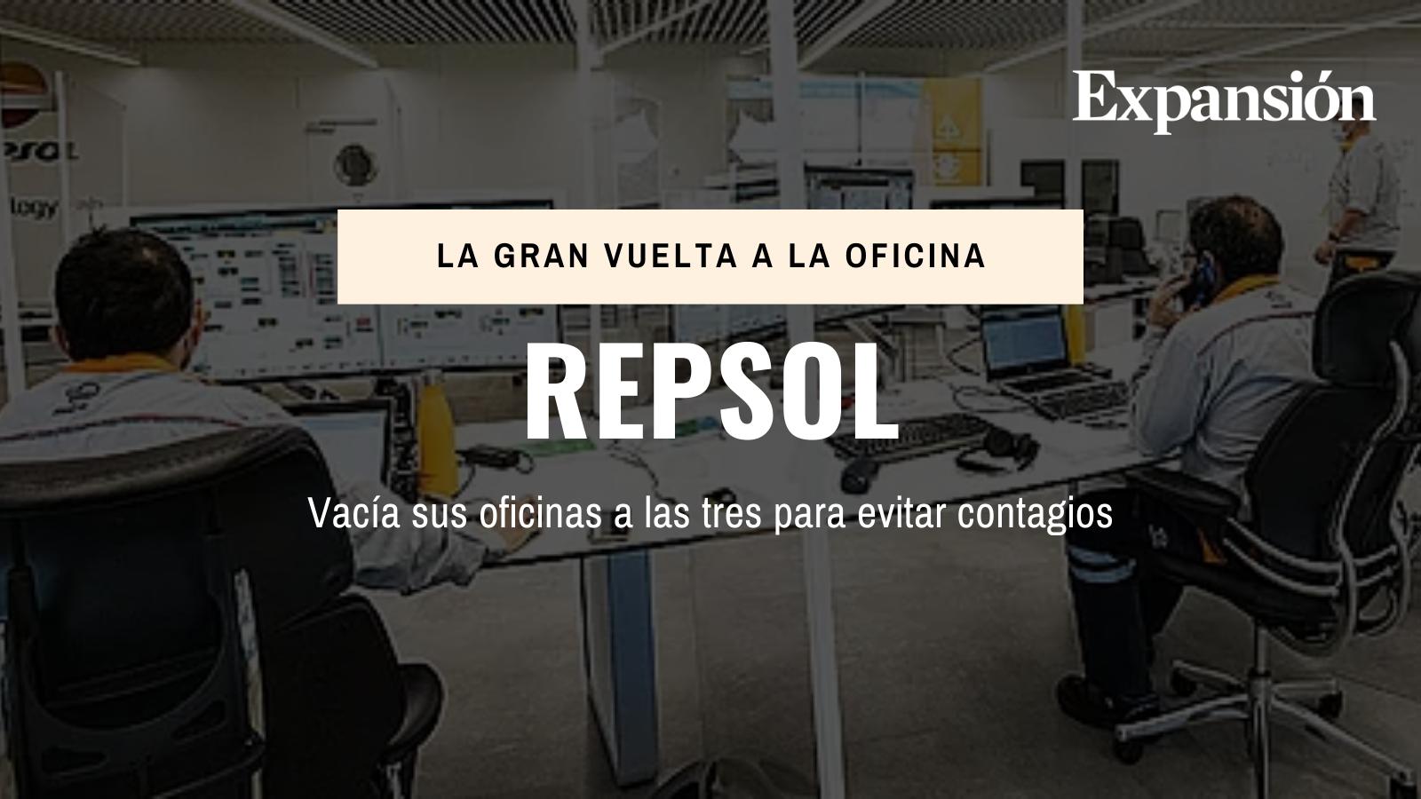 Repsol vacía sus oficinas a las tres para evitar contagios
