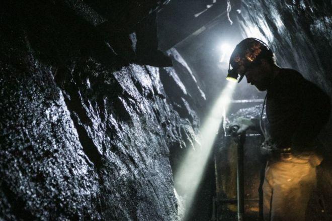 Mina de carbón.