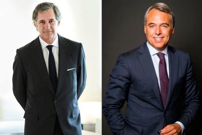 José Manuel Entrecanales, presidente de Acciona y de Acciona Energía (izquierda), y Juan Alcaraz, consejero delegado de Allfunds.