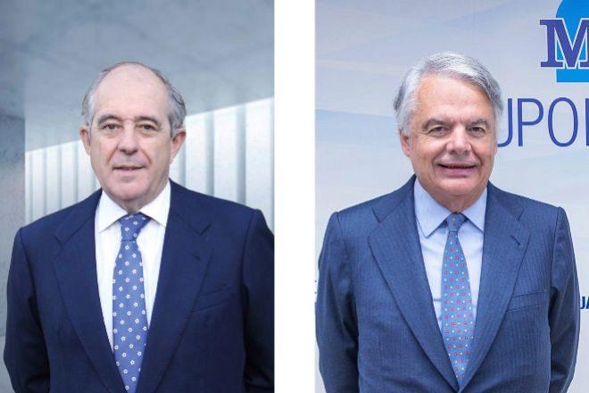 Emilio Soroa, presidente de Orienta Capital, e Ignacio Garralda, presidente del grupo Mutua Madrileña.
