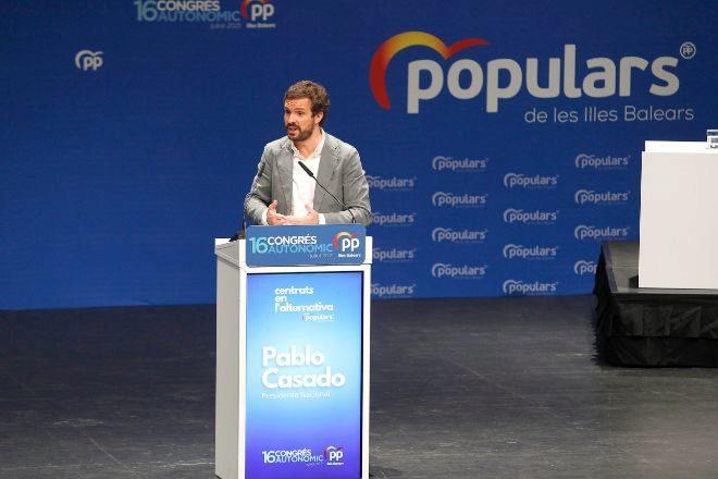 El presidente del PP Pablo Casado.