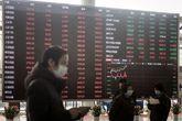 Interior de la Bolsa de Shanghai