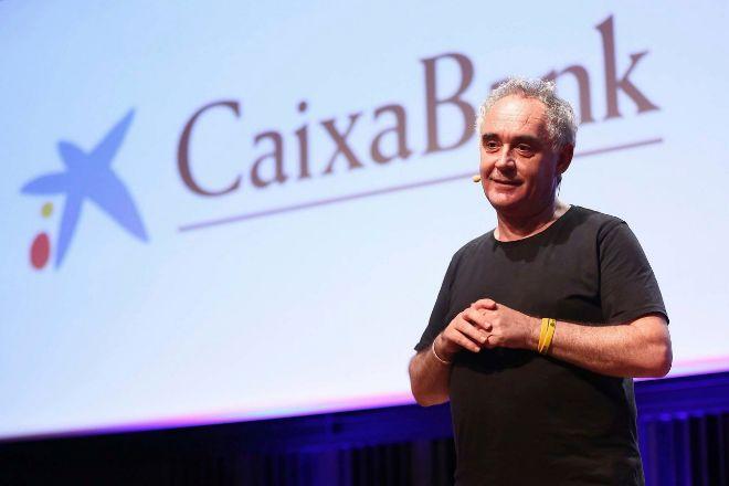 Ferran Adrià, en una charla de CaixaBank.