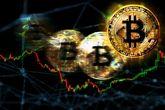 Gráficos con monedas de bitcoin