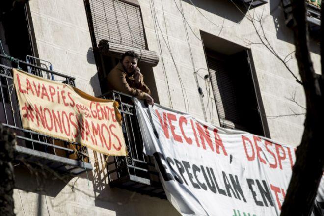 Un desahucio en el barrio madrileño de Lavapiés.