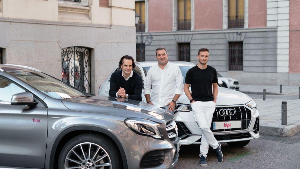 El equipo fundador de Bipi en Madrid, Alejandro Vigaray, cofundador, José Luis Hernández, CSO, y Hans Christ, cofundador.