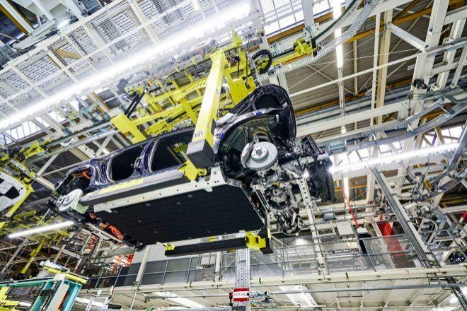 Fábrica de Mercedes Benz en Bremen.