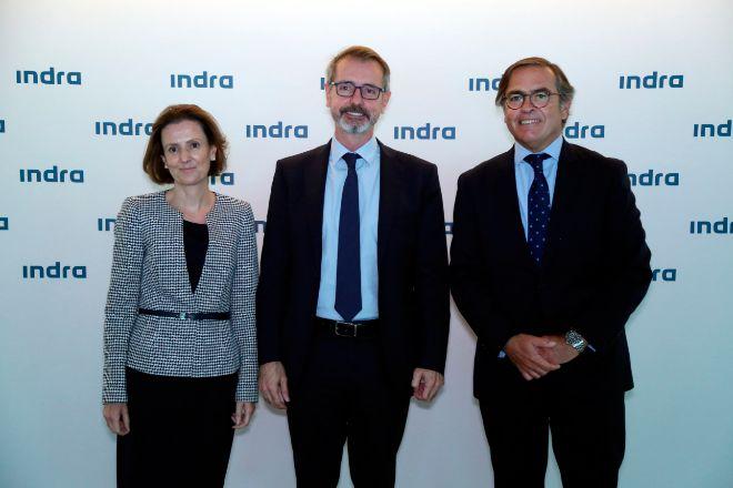 CRISTINA RUIZ (CONSEJERA), MARC MURTRA (PRESIDENTE) E IGNACIO MATAIX (CONSEJERO) DE lt;HIT gt;INDRA lt;/HIT gt;