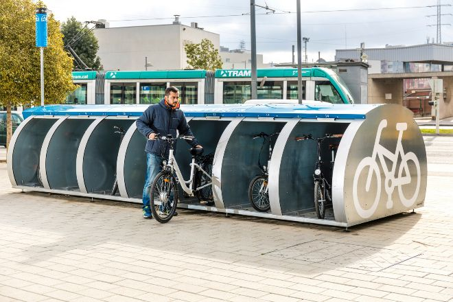 El Bicibox -foto- se ha demostrado insuficiente para la movilidad en bicicleta en el área metropolitana.