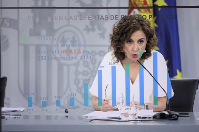 La ministra de Hacienda y Función Pública, María Jesús Montero.