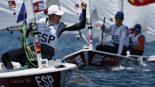 Cristina Pujol, tras una de las mangas de Laser Radial en aguas de...