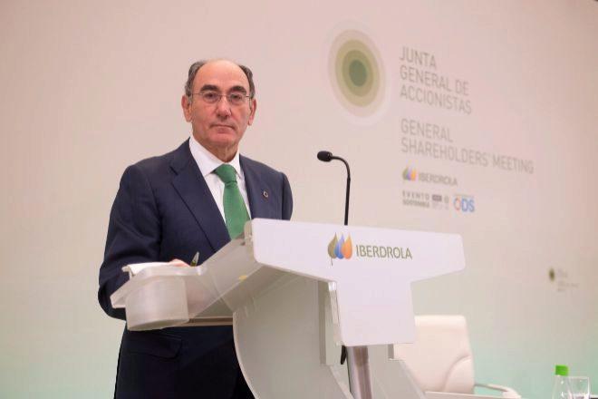 Ignacio Sánchez Galán, presidente de Iberdrola, en la junta de accionistas de este año.