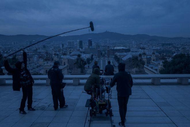 Escena de 'El Inocente', reciente producción rodada en varias localizaciones de la capital catalana.