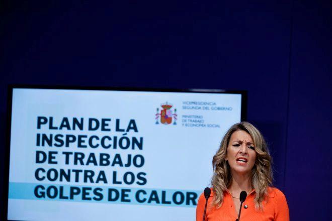 La ministra de Trabajo y vicepresidenta, Yolanda Díaz.
