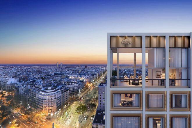 Los pisos de lujo de Mandarin Oriental están en el 112 de Passeig de Gràcia.