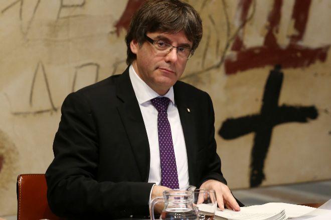 El líder de Junts, Carles Puigdemont, últimas semanas al frente de la presidencia de la Generalitat, en octubre de 2017.
