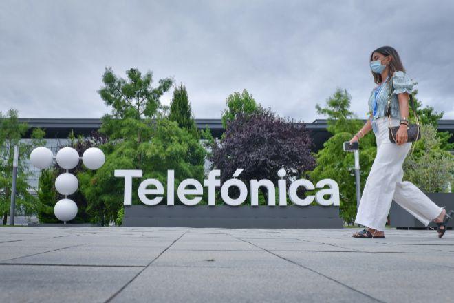 Vista de la sede de Telefónica en Las Tablas (Madrid).