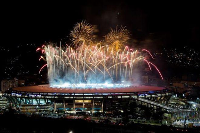 Ensayo ceremonia inauguración de los Juegos Olímpicos.