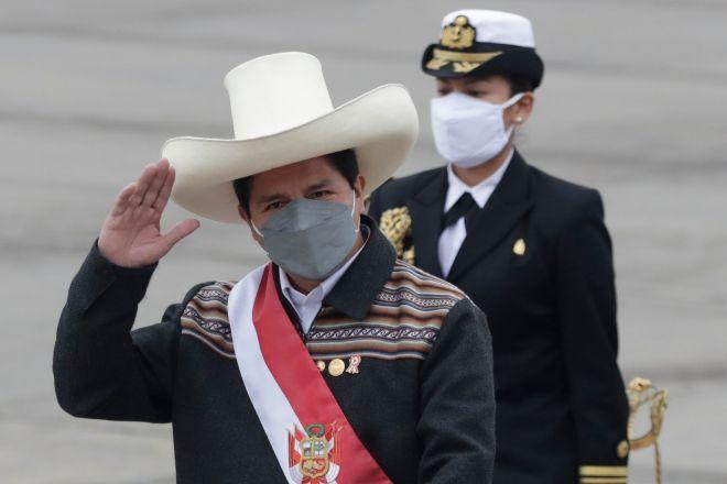 El presidente de Perú Pedro Castillo.