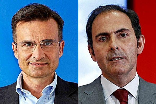 Marco Sansavini, presidente de Vueling, y Javier Sánchez-Prieto, presidente de Iberia.