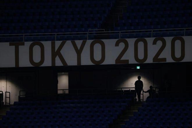 Gradas vacías en los Juegos Olímpicos de Tokio.
