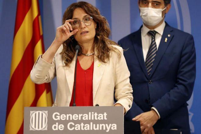 La consejera de Presidencia de la Generalitat, Laura Vilagrà, junto al vicepresidente Jordi Puigneró