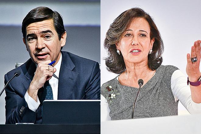 Carlos Torres, presidente de BBVA, y Ana Botín, presidenta de Banco Santander.