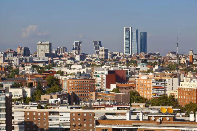 Vista general de Madrid capital.