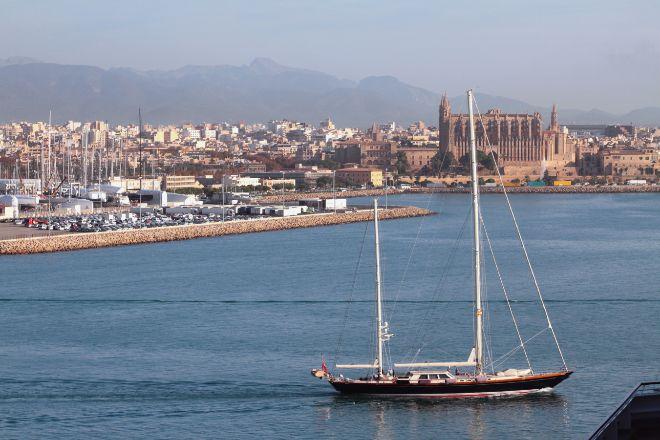 La bahía de Palma de Mallorca.