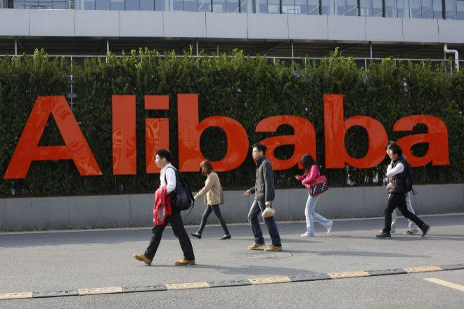 Empleados de Alibaba en una de las oficinas de la compañía.