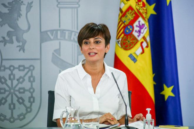 La ministra Portavoz, Isabel Rodríguez, ayer durante la rueda de prensa posterior al Consejo de Ministros.
