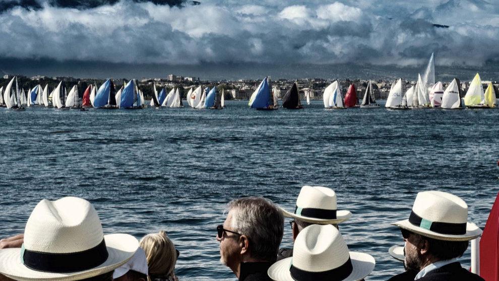 Los invitados asisten a la regata Bol d'Or Mirabaud en Suiza con...