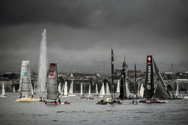 La Bol dOr Mirabaud se desarrolla en el lago Lemán. junto al Jet dEau, símbolo más conocido de la ciudad de Ginebra.