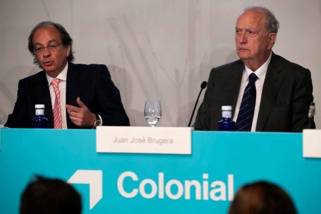 El consejero delegado de Colonial, Pere Viñolas, junto al presidente de la Socimi, Juan José Brugera.