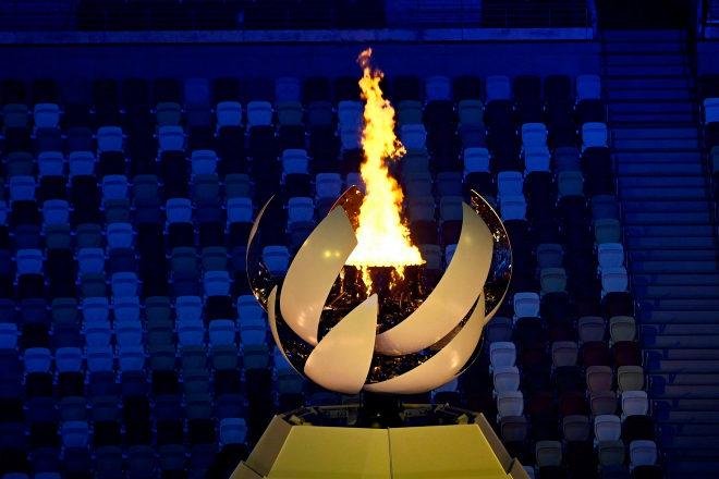 En la imagen, la llama olímpica de Tokio.