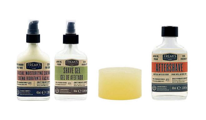 Jabón facial en barra con aceite de aguacate y aceite de coco, y aromatizado con aceite esencial de naranja dulce, pachuli, cedro y bergamota. Para rostro, para barba y para afeitar, 19,95 euros, 100 gr.