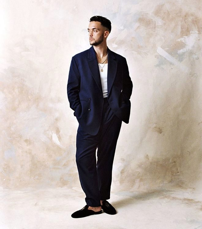 C.Tangana con pantalón tailoring 39,99 euros.