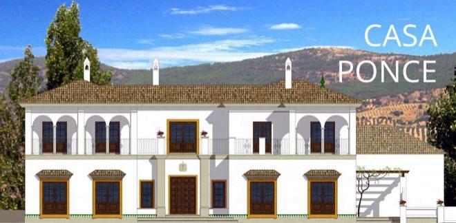 Render del cortijo ubicado en La Cetrina y proyectado por el estudio Diaz y Sanjuan.