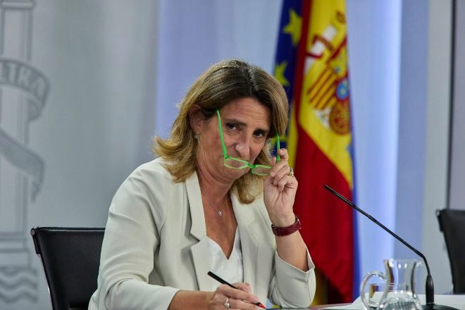 La vicepresidenta tercera y ministra de Transición Ecológica y Reto Demográfico, Teresa Ribera, ayer durante la rueda de prensa posterior al Consejo de Ministros.
