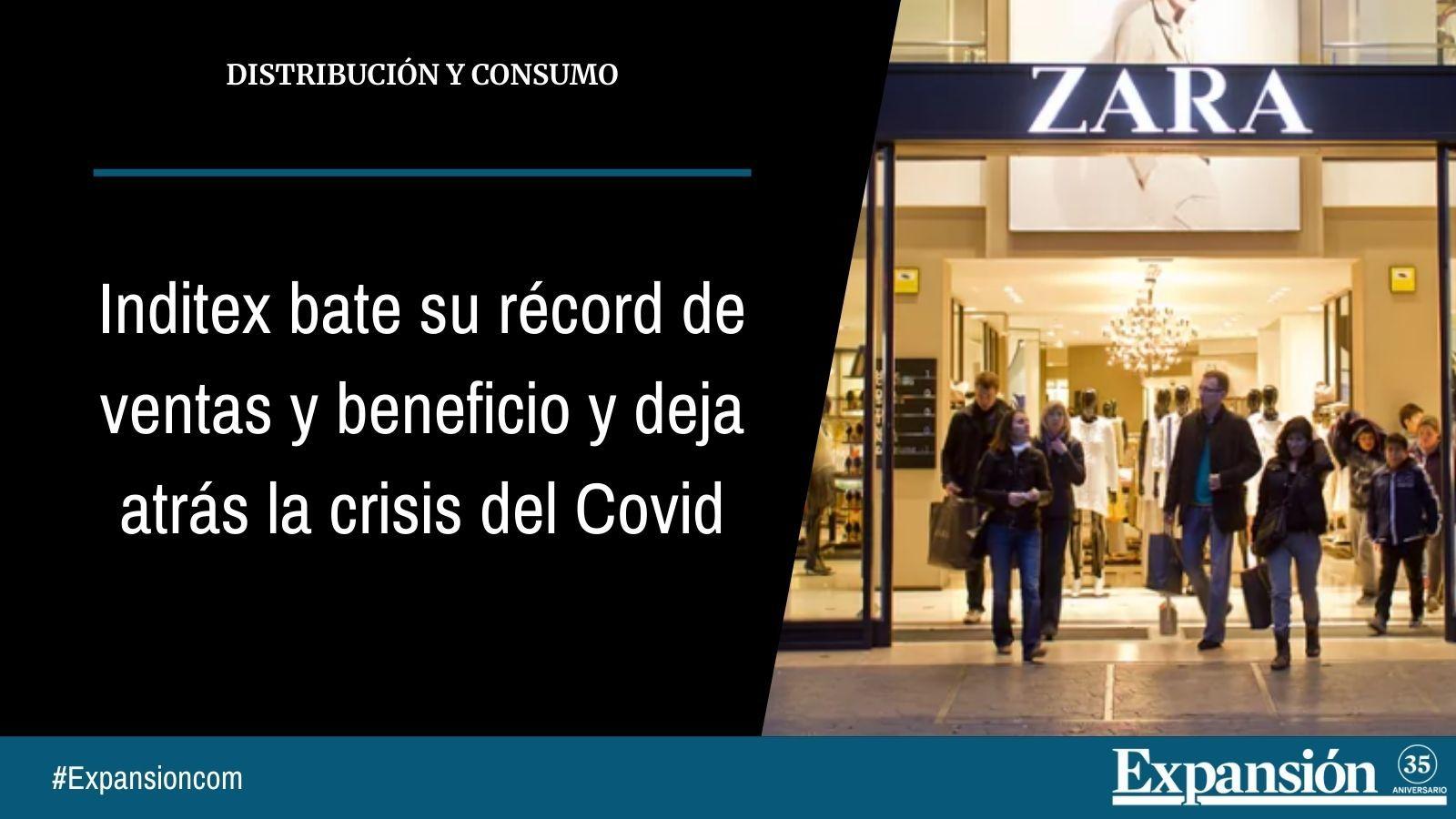 Inditex bate su récord de ventas y beneficio en el segundo trimestre y deja atrás la crisis del Covid
